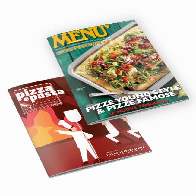 CAD Italia Srl porta la qualità dei suoi Forni David sulle pagine di Menù e Pizza e Pasta.