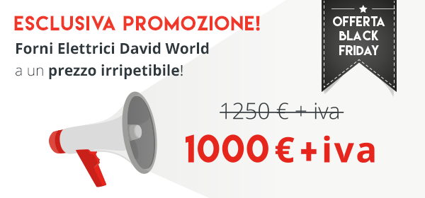 Offerta black friday david world scontati fino a luned for Forno elettrico david progress prezzo